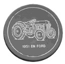 1951 8N Ford  Antique Vehicle - Concrete Stepping Stone  Mold