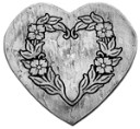 18 in. Floral heart mold  for STAINED GLASS  - Mosaic -Concrete Stepping Stone  Mold