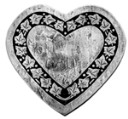 Ivy heart  - Concrete Stepping Stone  Mold