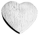 Slate Heart - Concrete Stepping Stone  Mold