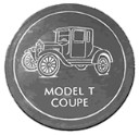 Model T Ford Coupe  - Concrete Stepping Stone  Mold