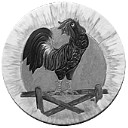 Rooster  - Concrete Stepping Stone  Mold