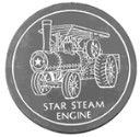 Star Steam Engine  - Concrete Stepping Stone  Mold