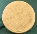 Round Leaf Design  - Concrete Stepping Stone Mold