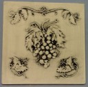 Grapes and Leaves  - Concrete Stepping Stone Mold