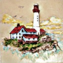 Lighthouse  - Concrete Stepping Stone Mold