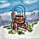 Old Conestoga Wagon  1  - Concrete Stepping Stone  Mold