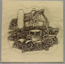 Old Barn and Truck  - Concrete Stepping Stone  Mold