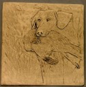 Dog With Pheasant  - Concrete Stepping Stone  Mold
