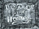 Welcome To Our Home  - Concrete Stepping Stone  Mold