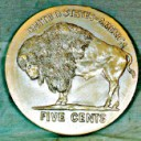 Buffalo Nickel  - Concrete Stepping Stone  Mold