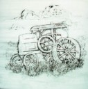 Old Steam Tractor  - Concrete Stepping Stone  Mold