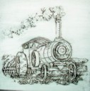 Steam Tractor W/Disc  - Concrete Stepping Stone  Mold