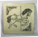Carousel Horse  - Concrete Stepping Stone  Mold