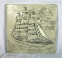 Clipper Ship  - Concrete Stepping Stone  Mold
