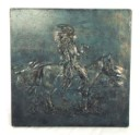 Chief on Horse  - Concrete Stepping Stone  Mold