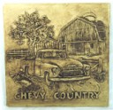 Chevy Country  - Concrete Stepping Stone  Mold