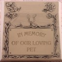 In Memory of Our Loving Pet  - Concrete Pet Memorial  Mold