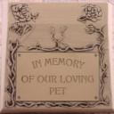 In Memory of Our Loving Pet  - Concrete Pet Memorial  Mold