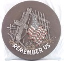 Remember Us W/Flag  - Concrete Stepping Stone  Mold
