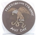 Freedom Over Tyranny Eagle  - Concrete Stepping Stone  Mold