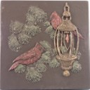 Cardinals at Light  - Concrete Stepping Stone  Mold
