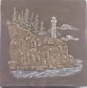 Lighthouse on Cliff  - Concrete Stepping Stone  Mold