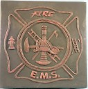 Fire and EMS Emblem  - Concrete Stepping Stone  Mold