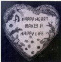 Happy Heart Accent Stone  - Concrete Stepping Stone  Mold