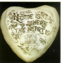 Home Is Where The Heart Is  - Concrete Stepping Stone  Mold