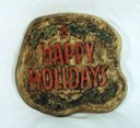 Happy Holidays  - Concrete Stepping Stone  Mold