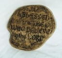Blessed Are Thee Who Believe In The Lord  - Concrete Stepping Stone  Mold