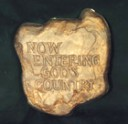 Now Entering Gods Country  - Concrete Stepping Stone  Mold