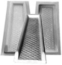Diamond Tapered Splash Block Mold -12 x 8 x 3 x 24