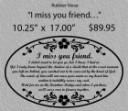 I miss you friend/LARGE