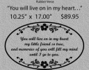 You will live on in my heart/LARGE