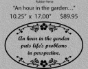 An hour in the garden/LARGE