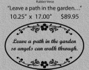 Leave a path in the garden/LARGE