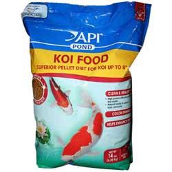 Api pond pond care koi fish food small pellet 14 lb for Bulk fish food