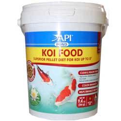 Api pond pond care koi fish food small pellet 35 oz for Small koi fish care