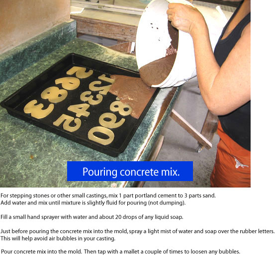 Pour Concrete Mix Into The Mold Then Tap With A Mallet Of Times To Loosen Any Bubbles