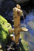 Deer Scarer Bamboo Fountain w/pump  by Aquascape