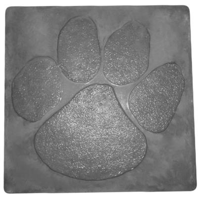 Cat paw print-square- - Concrete Stepping Stone Mold