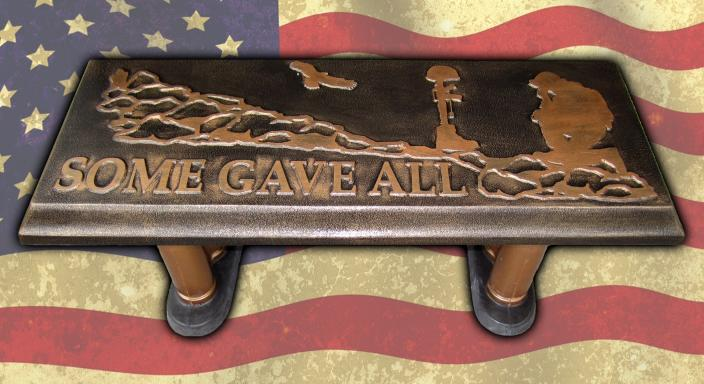 Some Gave All - Concrete Bench Top Mold