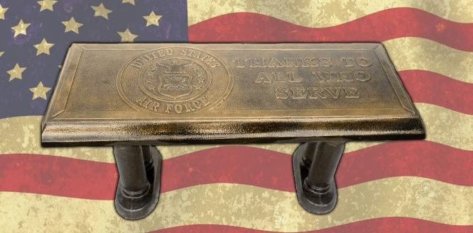 US Airforce  Concrete Bench Top Mold