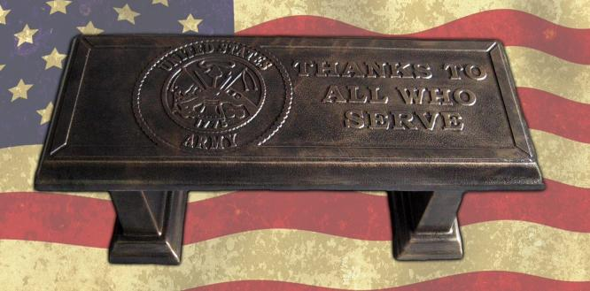 US Army Bench Concrete Bench Top Mold