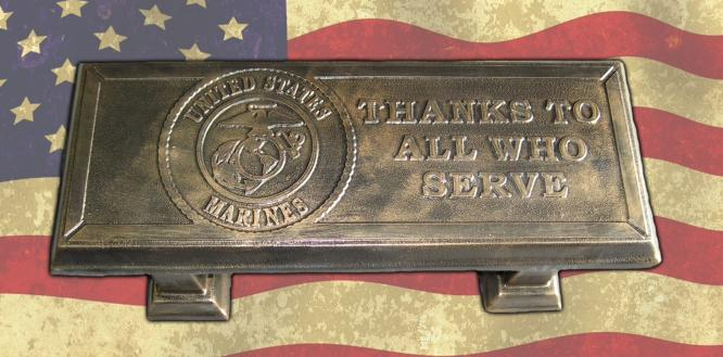 US Marines Concrete Bench Top Mold