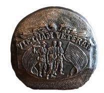 Vietnam Veterans rock Concrete mold