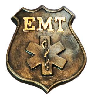 EMT Concrete Badge Mold  9 x 1