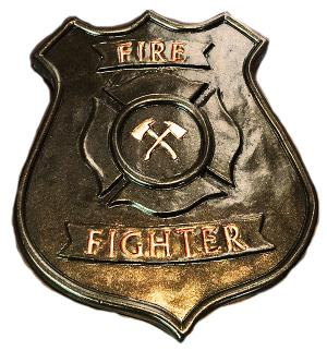 Fire Fighter Concrete Badge Mold  9 x 1